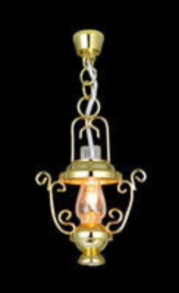 Hanging chain lamp, dollhouse lighting, 5042